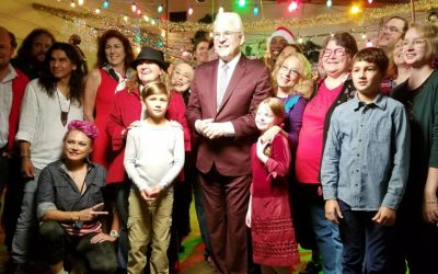 Steve Martin and Steep Canyon Rangers Shoot Christmas Music Video in Brevard, NC